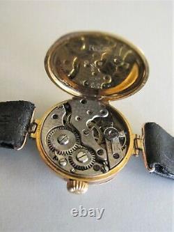 ROLEX Wristwatch W&D case VINTAGE 9k Pink GOLD RED 12 Ladies c. 1916 with box