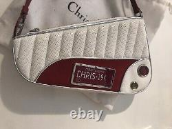 Rare Christian Dior By John Galliano White Red Car Bag Vintage Superb Condition