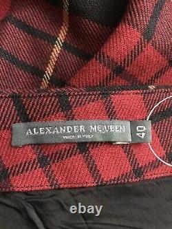 Rare Vtg Alexander McQueen AW2006'Widows of Culloden' Red Tartan Skirt S