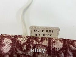 Rare Vtg Christian Dior by John Galliano Red Trotter Monogram Pochette Bag