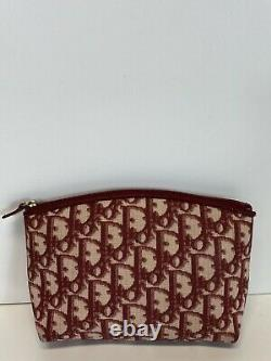Rare Vtg Christian Dior by John Galliano Red Trotter Monogram Pouch Bag
