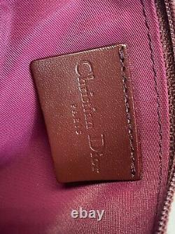 Rare Vtg Christian Dior by John Galliano Red Trotter Monogram Zip Saddle Pouch