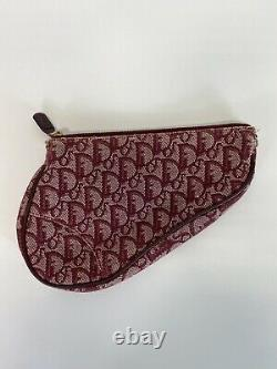Rare Vtg Christian Dior by John Galliano Red Trotter Saddle Pouch Bag