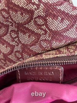 Rare Vtg Christian Dior by John Galliano Red Trotter Shoulder Bag