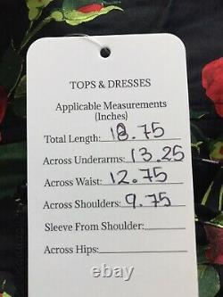 Rare Vtg Dolce & Gabbana D&G Black Red Rose Print Corset Top S