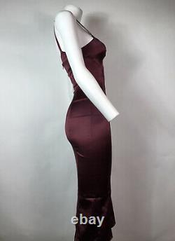 Rare Vtg Dolce & Gabbana D&G Burgundy Dress XS