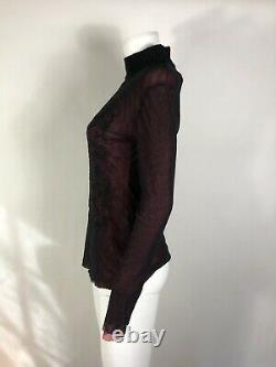 Rare Vtg Jean Paul Gaultier Classique Red & Black Mesh TOP