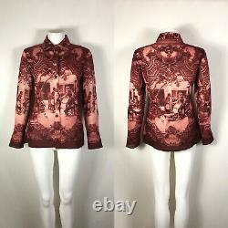Rare Vtg Jean Paul Gaultier Red Print 1998 Shirt S
