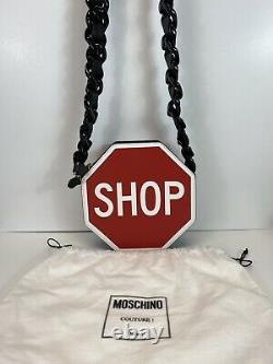 Rare Vtg Moschino Red Stop Sign Shoulder Bag
