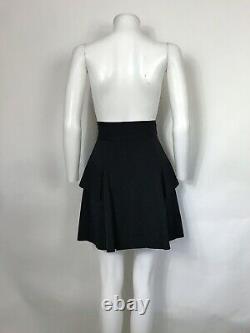 Rare Vtg Vivienne Westwood Red Label Black Jumbo Orb Logo Button Skirt S