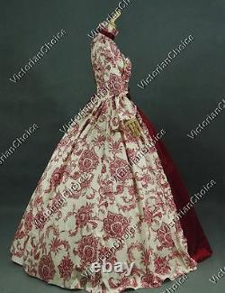 Renaissance Faire Antique Floral Vintage Dress Bridesmaid Ball Gown Theater 138