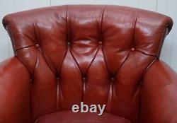 Rod Stewart Essex Home Howard & Son's Victorian Blood Red Leather Armchairs