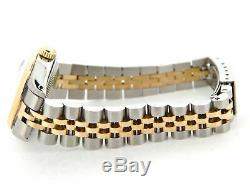 Rolex Datejust 6917 Ladies Yellow Gold & Steel Watch Silver Diamond Ruby Dial