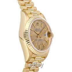 Rolex Datejust Auto 26mm Yellow Gold Ladies President Bracelet Watch 69178
