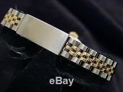 Rolex Datejust Ladies 2Tone 14K Yellow Gold Steel Watch White MOP Diamond 6917