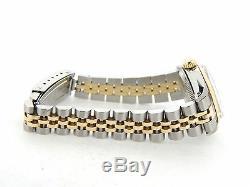 Rolex Datejust Ladies 2Tone Gold & Stainless Steel Watch Green Diamond 6917