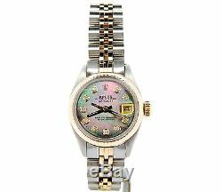 Rolex Datejust Lady 2Tone 14K Gold & Steel Watch Tahitian MOP Diamond Dial 6917