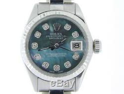 Rolex Datejust Lady Stainless Steel & 18k White Gold Watch Tahitian MOP Diamond