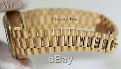 Rolex Datejust President 18k Yellow Gold Champagne Stick Dial Ladies Watch 69178