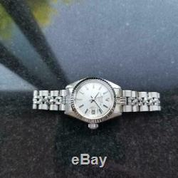 Rolex Ladies Datejust Silver Dial 18k Stainless Steel Watch Ms167