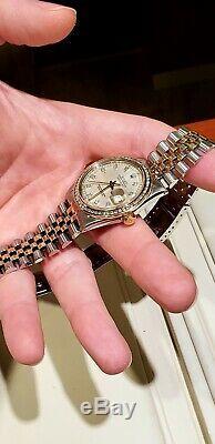 Rolex Men/Women Datejust Turn-O-Graph 36mm Diamond Dial & Bezel Pro Serviced