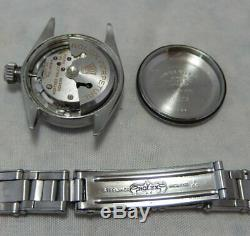 Rolex Oyster Perpetual Stainless Steel Ladies Watch Orig Band Silver Dial 1964