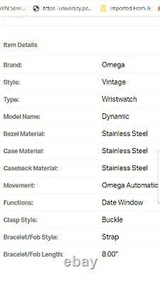 Sophisticated Retro Vintage S. Steel Omega 70s Geneve Dynamic T00L-102
