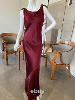 Unlabeled John Galliano Attributed Vintage Bias Cut Evening Dress w Draped Back