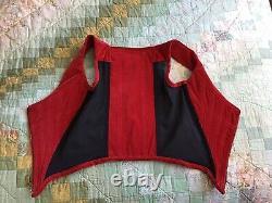 VIVIENNE WESTWOOD Rare Vintage RED VELVET CORSET UK 8 IT40 NEVER WORN
