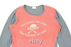 VIVIENNE WESTWOOD Vntg Ladies Too Fast To Live Too Young To Die Punk T shirt Red