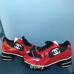 VTG RARE Spring 1997 Chanel Shoes Red