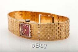 Vintage $12,000 RED MOP Diamond 18k Yellow Gold Ladies Rolex Watch BOX WTY 49g
