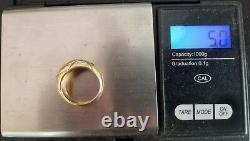 Vintage 14k Gold Ruby Sapphire Emerald Diamond Ring-Estate Jewelry Women SZ 6.5
