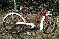 Vintage 1952 SCHWINN PANTHER 26 Cruiser Bike. AS Springer, Rocket Ray. Nice