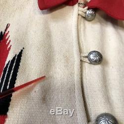Vintage 40's 50's Chimayo Material Navajo Indian Jacket Woven Women SZ 14