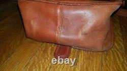 Vintage 60s/70s Coach NYC Bonnie Cashin Courier Saddle Bag Purse Tan Red Brown
