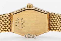 Vintage $7000 Red MOP Diamond OMEGA 14k Yellow Gold Ladies Dress Watch