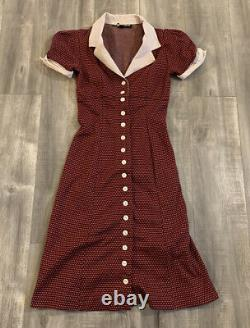 Vintage Betsey Johnson Red Pattern Dress Size Small