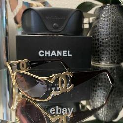 Vintage Chanel Sunglasses 4023 Gold Maroon Frames Eyeglasses VERY RARE