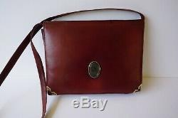 Vintage Christian Dior Crossbody Purse Burgundy Leather converts to Clutch Bag