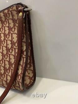 Vintage Christian Dior Trotter Shoulder Bag Logogram Red