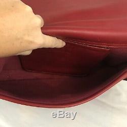 Vintage Coach Lexington Red Leather Briefcase Messenger Crossbody Bag 5265
