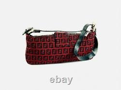 Vintage FENDI Red Monogram Clutch Bag