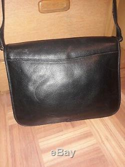 Vintage Gucci Crossbody Bag Clutch Purse GG 80s Auth black Leather green red