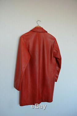 Vintage Miu Miu red leather coat jacket 38 size xs-med US 4-6 AU 8-10