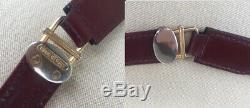 Vintage Must De Cartier Crossbody Shoulder Bag Burgundy Bordeaux First Edition