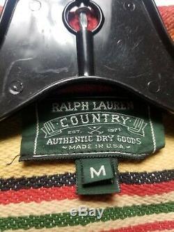 Vintage Ralph Lauren Country MADE USA Native Indian BEACON AZTEC Blanket VEST