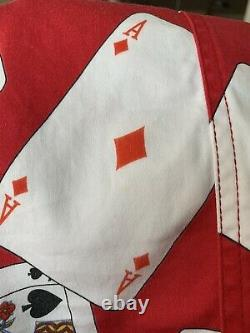 Vintage Rare 90s Moschino Jeans Playing Cards Novelty Print Poker Skirt sz 8