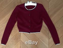 Vintage Red Color Miu Miu Cardigan Wool Blend