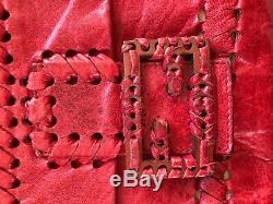 Vintage Red leather Fendi Baguette / crossbody interchangeable straps! Rare